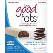 Love Good Fats - Cookies & Cream - Packaging of 4 x 39g