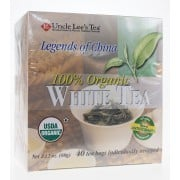 Uncle Lee's Tea - Legends of China Organic White Tea - Packaging of 40 bags