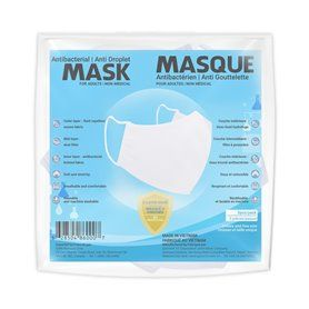 Sequence Health Ltd. - Antibacterial Mask for Adults White - Packaging of 5 Masks